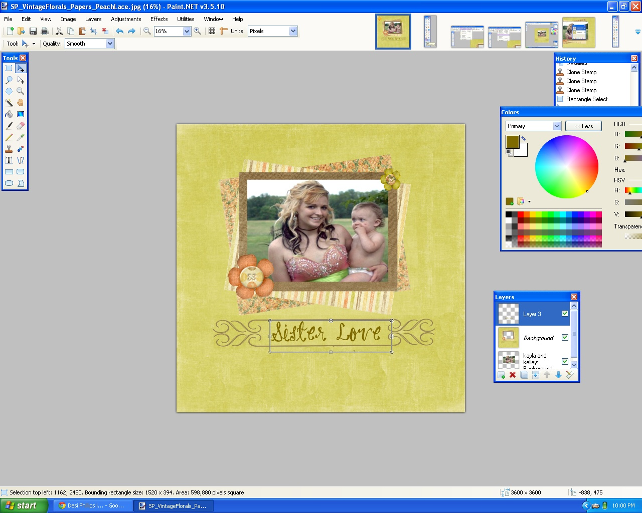 A tutorial digital scrapbooking in paint step baditri Image collections